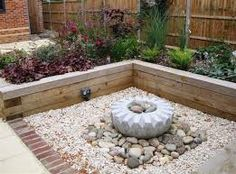 small water features in a raised bed - Google Search
