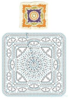 How to Crochet a Solid Granny Square : The Ultimate Granny Square Diagrams Coll. How to Crochet a Solid Granny Square : The Ultimate Granny Square Diagrams Coll… How to Crochet Crochet Mandala Pattern, Crochet Square Patterns, Granny Square Crochet Pattern, Crochet Diagram, Crochet Chart, Crochet Granny, Diy Crochet, Crochet Doilies, Crochet Stitch