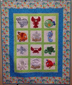 This customer used our 'Under the Sea Applique' to complete this adorable quilt!! Love it :)