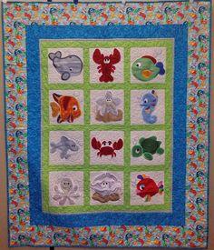 Sea Creature Appliques   children quilt   Pinterest   Sewing ... : under the sea quilt - Adamdwight.com