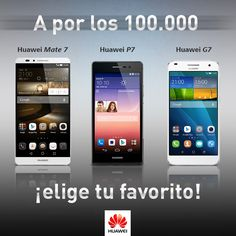 100.000 fans, ¿qué smartphone Huawei te gustaría que sorteásemos?