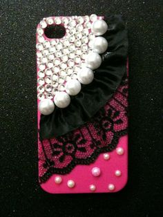 Victorian pink bling iPhone 4/4S case with by GirlyBlngSparklyThng, $35.00