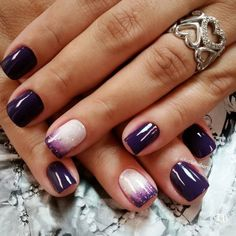 Vogue and dark Purple nail art design. Stunning and deadly. Perfect for…