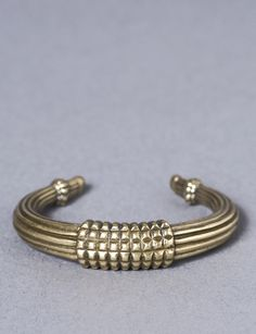 tusk brass cuff