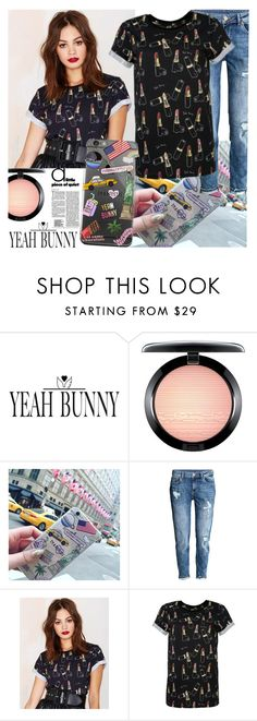"""""""YEAH BUNNY"""" by gaby-mil ❤ liked on Polyvore featuring MAC Cosmetics, H&M, iphone and case"""