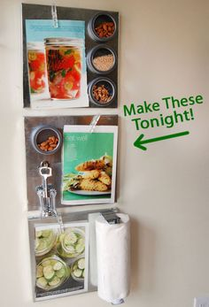 Make Magnetic Kitchen Boards To Keep You Organized