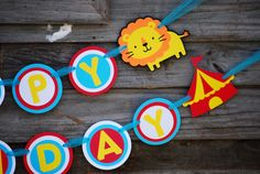 Circus Birthday Party Banner Circus Theme Carnival Baby