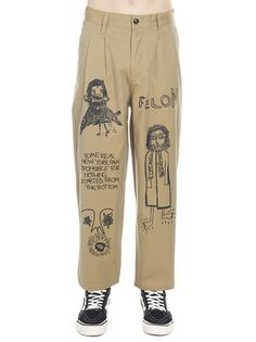 Shop Haculla 'feon' Pants In Beige from stores. 'feon' Pants From Haculla: Cotton 'feon' Pants Composition: cotton Look Fashion, Diy Fashion, Fashion Outfits, Fashion Design, Painted Jeans, Painted Clothes, Diy Clothing, Custom Clothes, Estilo Jeans
