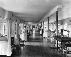 Common room at the Hotel-Dieu Hospital, Montreal...1911.