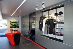 Reception at McLaren Queensland Showroom, Australia. McLaren Gold Coast by Birchall & Partners Architects. Architects with extensive experience designing and building car showrooms since 1988. Architects Ipswich | Architects Brisbane | Architects Gold Coast Brisbane Architects, Southport, Gold Coast, Showroom, Reception, Australia, Sport, Building, Car