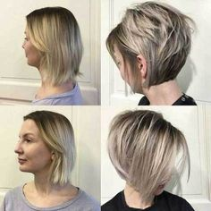 Today, we would like to acquaint you with the brightest variations of Ideas About Short Ash Blonde Hairstyles. Ash blonde color suits almost any type of. Bobs For Thin Hair, Short Straight Hair, Short Hair Cuts For Women, Short Fine Hair, Blond Hairstyles, Short Hairstyles For Women, Straight Hairstyles, Hairstyle Short, Short Haircuts