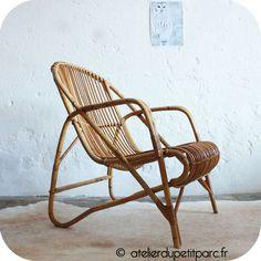 Charming Vintage Rattan Chair   Atelierdupetitparc.fr