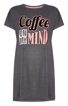 Primark - Grey Coffee On My Mind Sleep Shirt