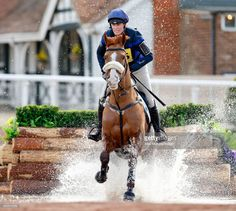 Zara Phillips competes, on her horse 'Fernhill FaceTime', in the cross country phase of the Tweseldown Horse Trials at Tweseldown Racecourse on March 9, 2017 in Fleet, England.