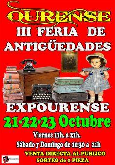 Feria de antigüedades y coleccionismo 2016 en Ourense. Ocio en Galicia | Ocio en Ourense. Agenda de actividades: cine, conciertos, espectaculos