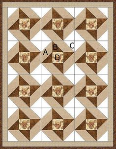 Our quilt kit is already precision pre-cut for accuracy. This masculine pre-cut quilt kit is perfect for the hunter, outdoors man or country guy with fussy-cut deer in a cameo surrounded with a few wi Quilt Baby, Baby Quilts Easy, Lap Quilts, Panel Quilts, Patchwork Quilting, Quilt Blocks, Half Square Triangle Quilts, Square Quilt, Quilting Projects