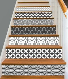 15steps Stair Riser Vinyl Strips Removable Sticker by SnazzyDecal