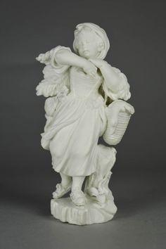 Figure; biscuit porcelain; skating girl.