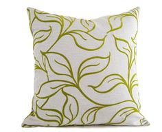 textured green pillow chartreuse pillow cover green leaves pillow modern pillow cushion green throw pillow 12x18 18x18 20x20 22x22