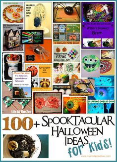 100+ Spooktacular Halloween Ideas for Kids...A Halloween Round-up from Bloggers Around the World! via www.mysmallpotatoes.com