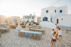 A wedding on Anafi Island | lafete , wedding planning in Greece, table setting, wedding organization, cyclades