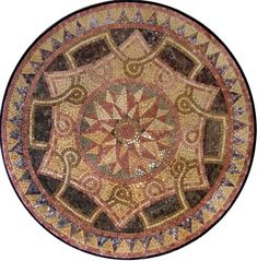MD110 Marble Mosaic Medallion Tile