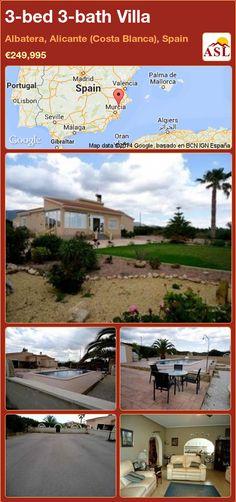 3-bed 3-bath Villa in Albatera, Alicante (Costa Blanca), Spain ►€249,995 #PropertyForSaleInSpain