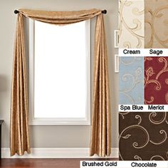 Isis Scroll Window 6-yard Scarf | Overstock.com Shopping - Great Deals on Isis Dei Valances
