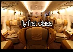 First class would be awesome ✈
