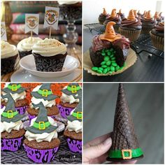 Sorting Hat Food for a Harry Potter Party. Sorting Hat inspired cakes and cookies, how cool!