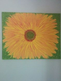 Sunflower - Acrylic over canvas #arttherapy