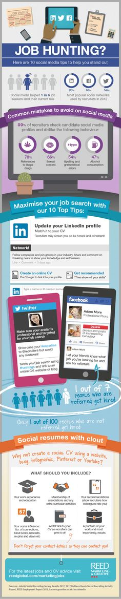 How to Find a Job Using Social Media - 10 Tips [INFOGRAPHIC] #solliciteren #socialmedia