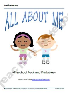 All About Me Preschool Pack