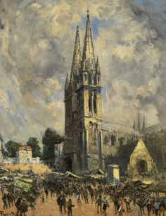 Frank Myers Boggs - The Church In Normandy