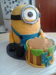 Minion cake for my little nephew