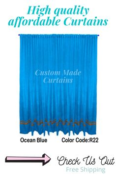 All colors and sizes available Striped Curtains, Pleated Curtains, Rod Pocket Curtains, Velvet Curtains, Curtain Panels, Panel Curtains, Home Theater Curtains, Stage Curtains, Home Theater Decor