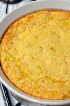 Corn Casserole. Talk about QUICK and EASY!  Just 6 ingredients!  ¯\_(ツ)_/¯ I have had this before and it is awesome!