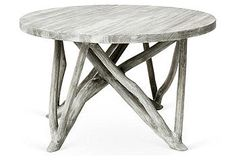 Washed Gray Branch Forest coffee table
