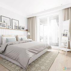 Дизайн-проект квартиры в скандинавском стиле, белый скандинавский интерьер
