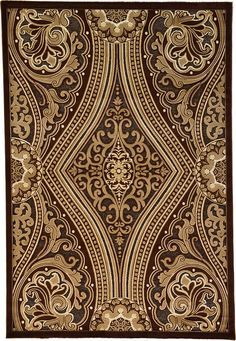 Brown Meshkabad Design Area Rug