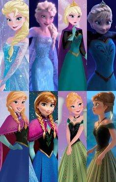 Anna and Elsa by autumn