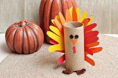Gobble, gobble! Make a paper tube turkey craft