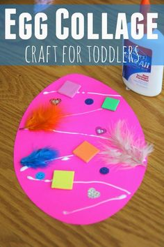 Easter Egg Collage Craft for Toddlers - Crafts for Kids - Toddler Approved!: Easter Egg Collage Craft for Toddlers - Easter Arts And Crafts, Easter Crafts For Toddlers, Easter Projects, Spring Crafts, Bunny Crafts, Easter Ideas, Kids Crafts, Easter Activities For Preschool, Spring Toddler Crafts