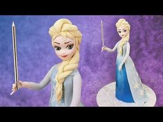 In this disney Frozen cake tutorial I show you how to make a fondant / modelling paste Anna cake topper to use on your frozen themes cakes. Modelling paste m. Disney Frozen Party, Frozen Party Cake, Frozen Cake Topper, Elsa Frozen, Frozen Free, Fondant Figures Tutorial, Cake Topper Tutorial, Elsa Torte, Elsa Cakes