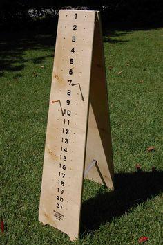 Cornhole scoreboard - All About Garden Outdoor Yard Games, Diy Yard Games, Diy Games, Backyard Games, Lawn Games, Outdoor Fun, Outdoor Activities, Outdoor Ideas, Backyard Ideas