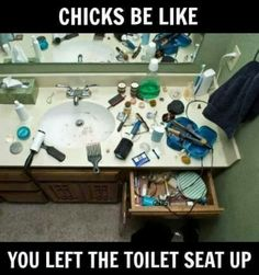 Luckily my wife leaves our bathroom clean :)