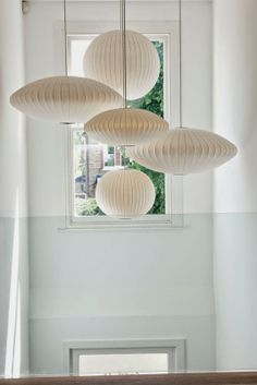 // Bubble Lamps / by George Nelson Stair Lighting, Interior Lighting, Home Lighting, Pendant Lighting, Jar Chandelier, Hallway Lighting, Ceiling Lighting, Light Pendant, Lighting Ideas