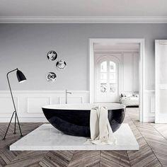 une belle ambiance noir et blanche très classe