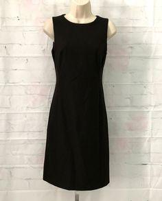 United Colors of Benetton womens XS brown sleeveless stretch career sheath dress #UnitedColorsofBenetton #Sheath #WeartoWork