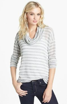 Splendid 'Antwerp' Stripe Cowl Neck Sweater available at #Nordstrom